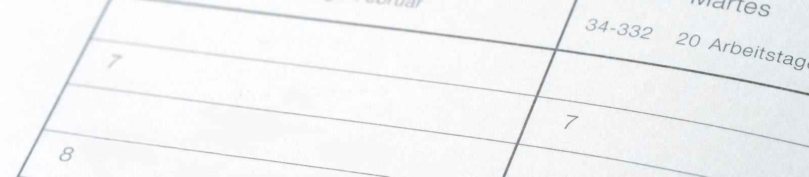 """Kalender mit Eintrag """"Projektstart"""""""